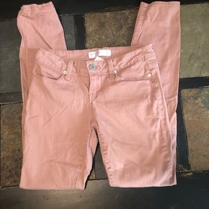 Salmon colored skinny jeans size 3